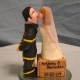 Firefighter and Short Bride